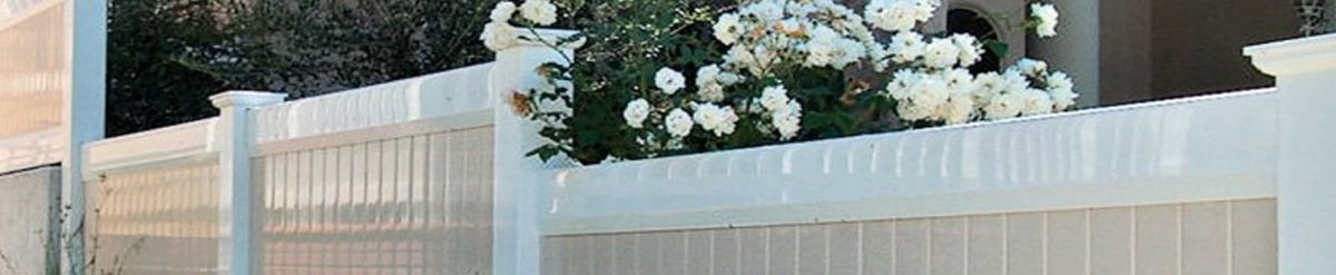 Sophie installed a beautiful white color perimeter fence around her home