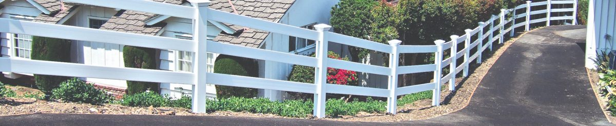 High-quality vinyl Ranch Rail fence from Duramax – Certified fences made of 100% virgin vinyl