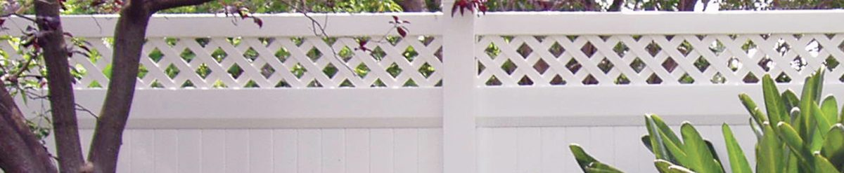 Yuan installed a white vinyl fence from Duramax around his property